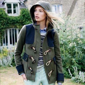 Like New. J. Crew Colorblock duffle coat